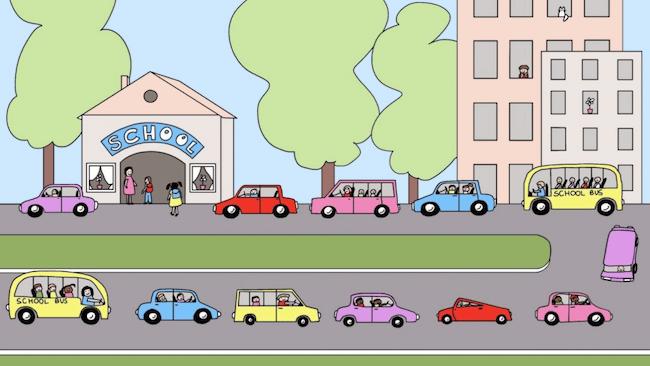QM.School.Carpooling.Image Demonstration