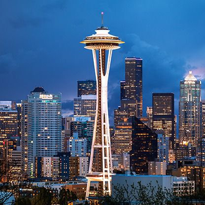 huge innovative design tower in Seattle